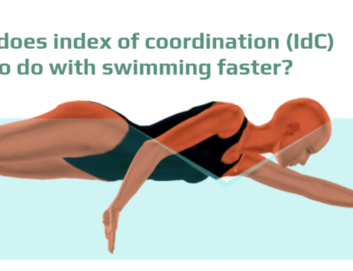 What does the index of coordination (IdC) have to do with swimming faster?